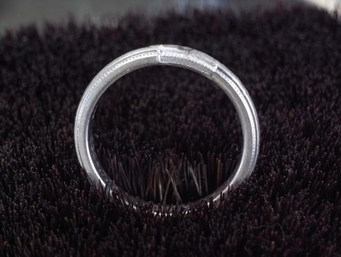 ティファニーのクラシックミルグレイン (結婚指輪)のサイズ直し 08