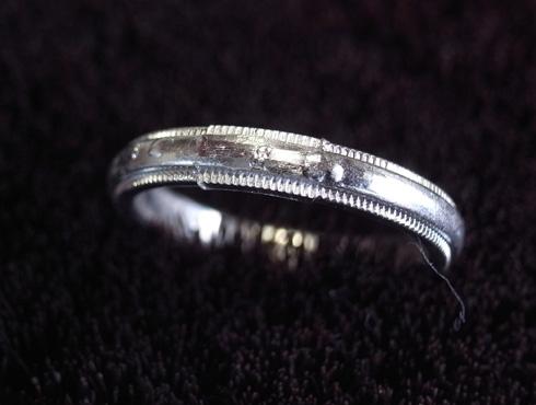 ティファニーのクラシックミルグレイン (結婚指輪)のサイズ直し 10