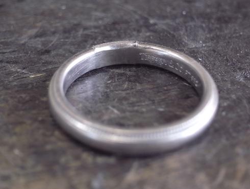 ティファニーのクラシックミルグレイン (結婚指輪)のサイズ直し 11