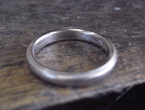 ティファニーのクラシックミルグレイン (結婚指輪)のサイズ直し 01ティファニーのクラシックミルグレイン (結婚指輪)のサイズ直し 12