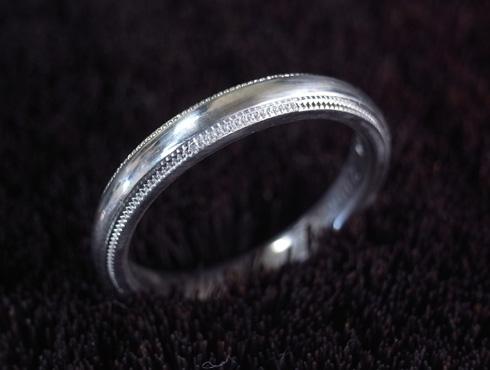 ティファニーのクラシックミルグレイン (結婚指輪)のサイズ直し 14