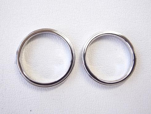 ティファニーのクラシックミルグレイン (結婚指輪)のサイズ直し 16