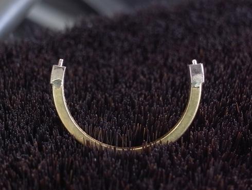 切断されたカルティエ(cartier)の結婚指輪のサイズ直しと修理 09