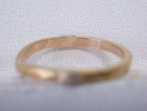 切断されたカルティエ(cartier)の結婚指輪のサイズ直しと修理 15