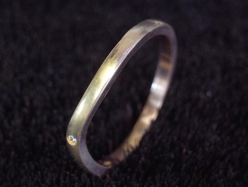 切断されたカルティエ(cartier)の結婚指輪のサイズ直しと修理 17