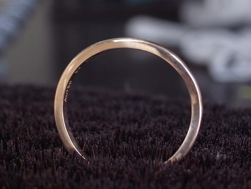 切断されたカルティエ(cartier)の結婚指輪のサイズ直しと修理 19