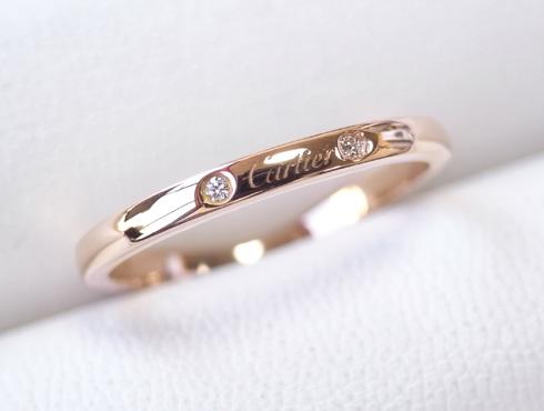 切断されたカルティエ(cartier)の結婚指輪のサイズ直しと修理 24