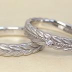 月桂樹の結婚指輪(アレンジ)