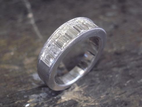 リフォームで製作したハーフエタニティのリング 10