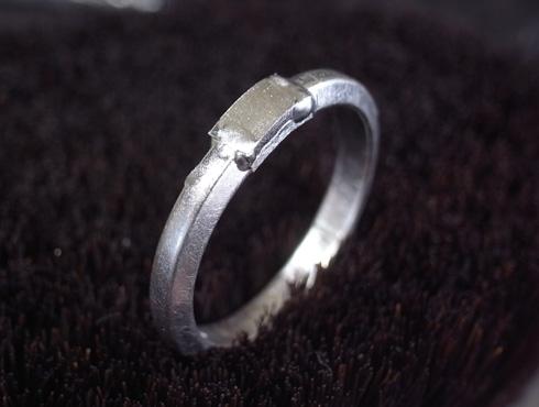 外れなくなったカルティエの結婚指輪 切断とサイズ伸ばし 09