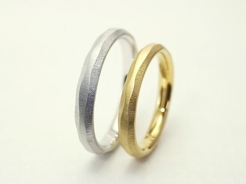 オリジナル 結婚指輪 シンプルだけど個性的な結婚指輪
